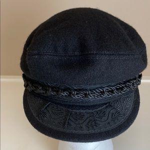 Authentic vintage Greek fisherman's hat black